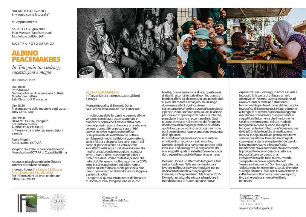 Mostra fotografica ALBINO-PEACEMAKERS Dorin